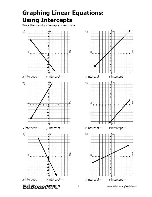Printables Graphing Linear Equations Worksheet graphing linear functions worksheet pdf hypeelite equations using intercepts edboost