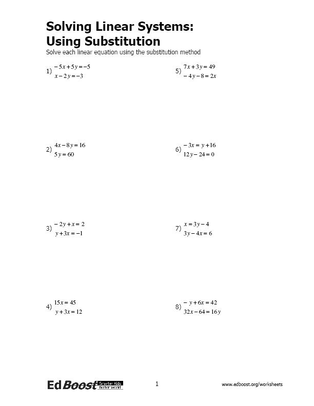 Printables Solving Systems Of Equations By Elimination Worksheet solving systems by elimination worksheet syndeomedia of linear equations inequalities edboost worksheet