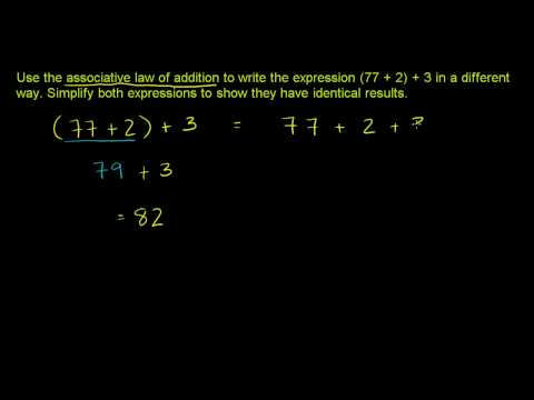 Associative Law of Addition