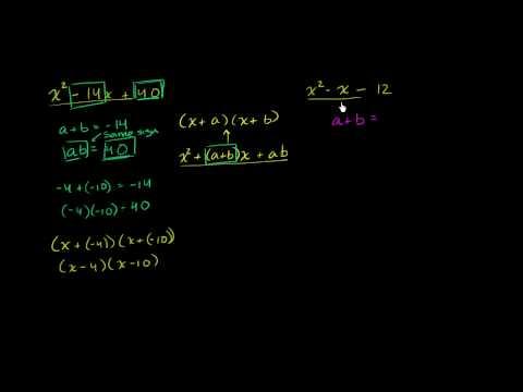 Factoring polynomials 1