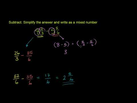 Subtracting Mixed Numbers 2