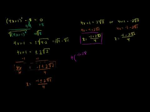 Solving Quadratic Equations by Square Roots