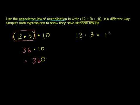 Associative Law of Multiplication