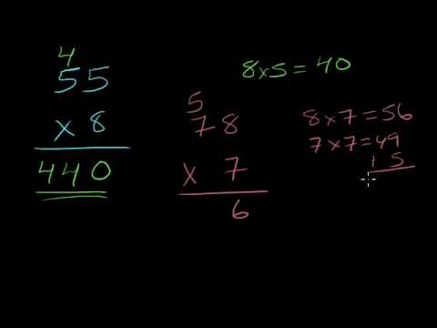 Multiplication 4: 2-digit times 1-digit number