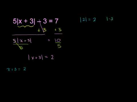 Absolute Value Equation Example 2